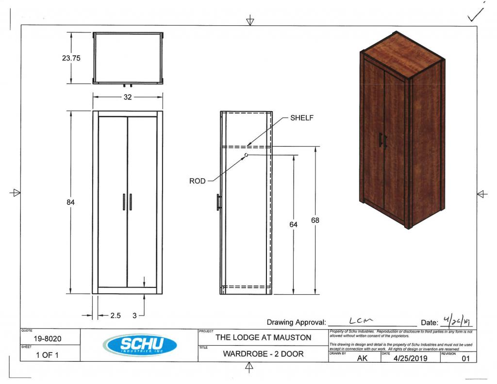 Wardrobe - 2 Door